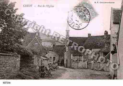 Ville de CREOT, carte postale ancienne