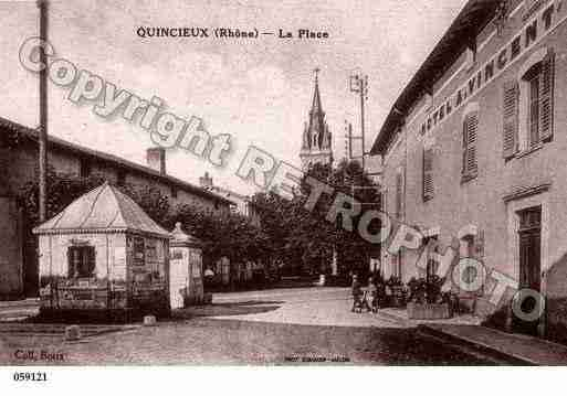 Villes et villages en cartes postales anciennes .. - Page 3 Photos-carte-quincieux-rhone-PH051447-E