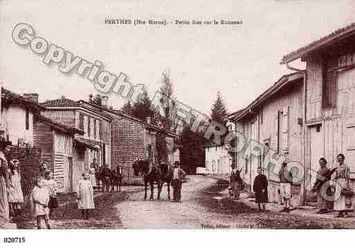 Ville de PERTHES, carte postale ancienne