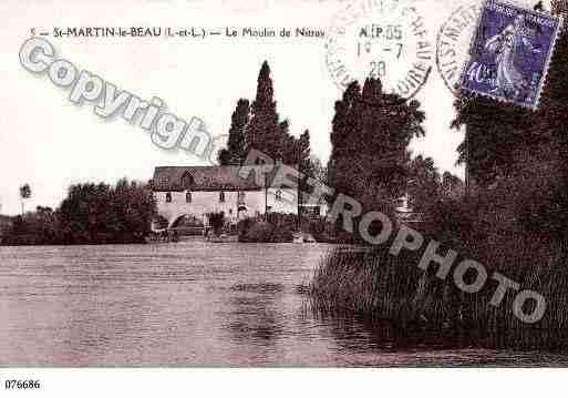 Ville de SAINTMARTINLEBEAU, carte postale ancienne