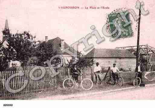Ville de VAUPOISSON, carte postale ancienne