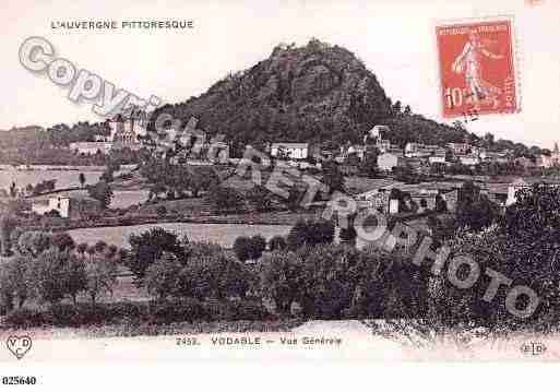 Ville de VODABLE, carte postale ancienne