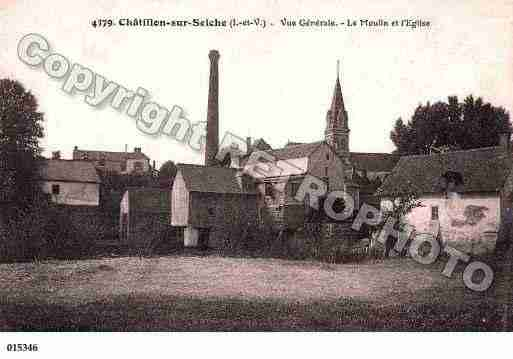 Ville de CHATILLONSURSEICHE, carte postale ancienne