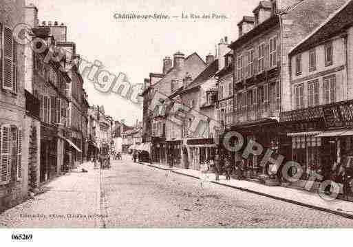 Ville de CHATILLONSURSEINE, carte postale ancienne
