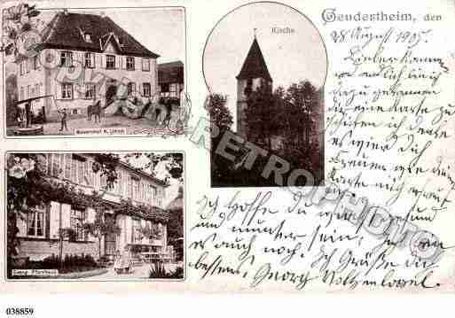 Ville de GEUDERTHEIM, carte postale ancienne