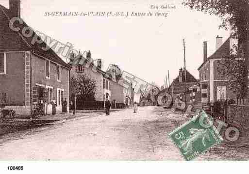 Ville de SAINTGERMAINDUPLAIN, carte postale ancienne