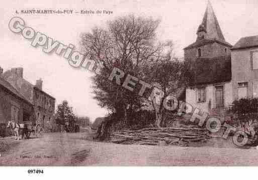 Ville de SAINTMARTINDUPUY, carte postale ancienne