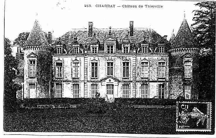 Ville de CHARRAY, carte postale ancienne