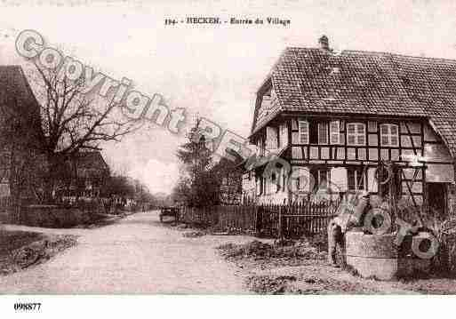 Ville de HECKEN, carte postale ancienne