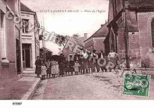 Ville de SAINTLAURENTDELIN, carte postale ancienne