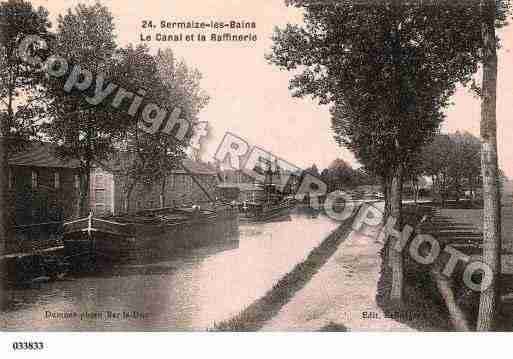 Ville de SERMAIZELESBAINS, carte postale ancienne