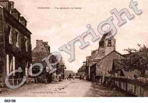 Ville de TIREPIED, carte postale ancienne