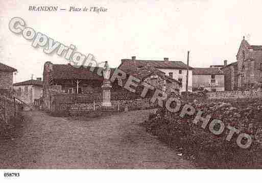 Ville de BRANDON, carte postale ancienne
