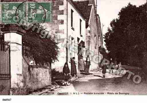 Ville de CHARGE, carte postale ancienne