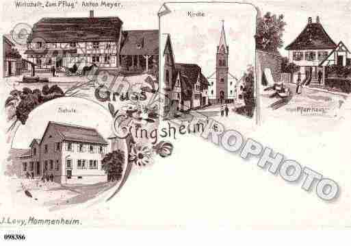 Ville de GINGSHEIN, carte postale ancienne