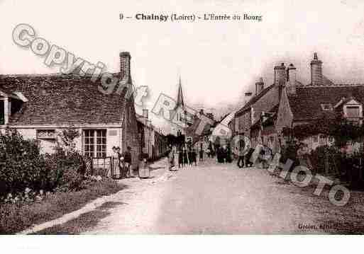 Ville de CHAINGY, carte postale ancienne