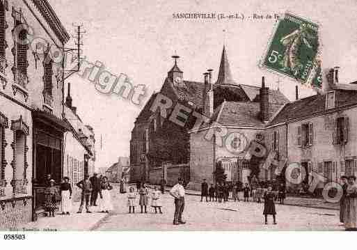 Ville de SANCHEVILLE, carte postale ancienne