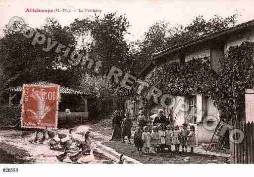 Ville de ALLICHAMPS, carte postale ancienne