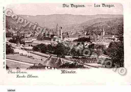 Ville de MUNSTER, carte postale ancienne