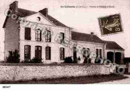 Ville de COLOMBE(LA), carte postale ancienne