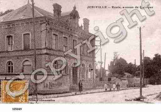 Ville de JUNIVILLE, carte postale ancienne