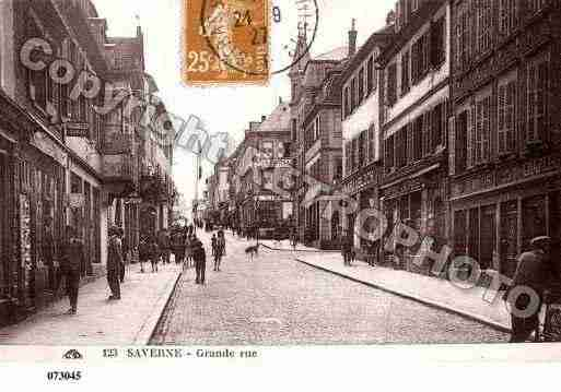 Ville de SAVERNE, carte postale ancienne