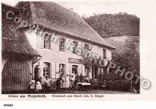 Ville de WEGSCHEID, carte postale ancienne