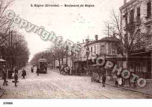 Ville de BEGLES, carte postale ancienne