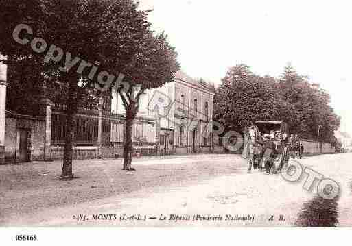 Ville de MONTS, carte postale ancienne