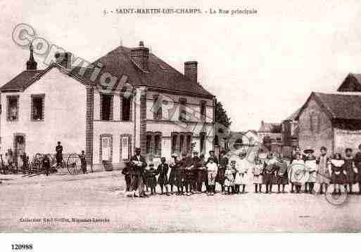 Ville de SAINTMARTINDESCHAMPS, carte postale ancienne