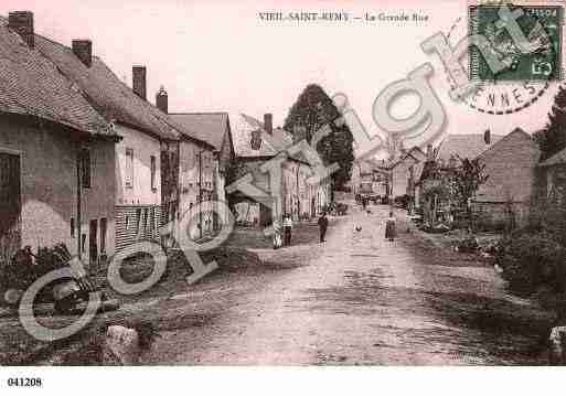 Ville de VIELSAINTREMY, carte postale ancienne