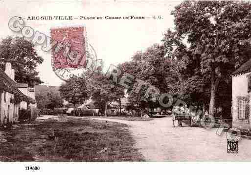 Ville de ARCSURTILLE, carte postale ancienne