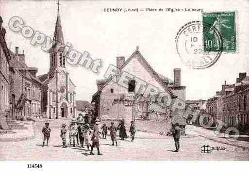 Ville de CERNOYENBERRY, carte postale ancienne