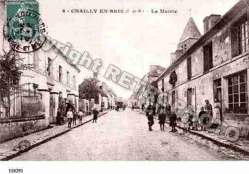 Ville de CHAILLYENBRIE, carte postale ancienne