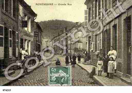Ville de MONTHERME, carte postale ancienne
