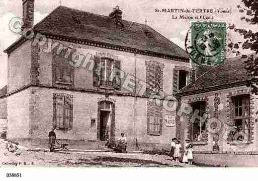 Ville de SAINTMARTINDUTERTRE, carte postale ancienne