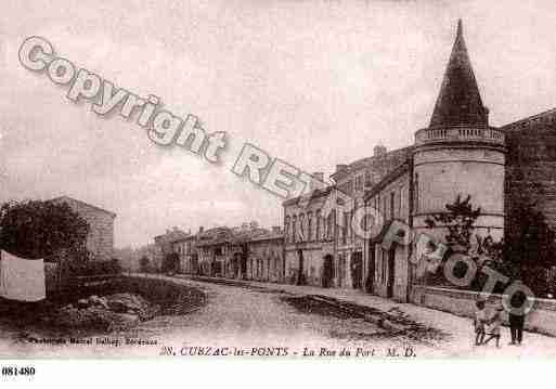 Ville de CUBZACLESPONTS, carte postale ancienne