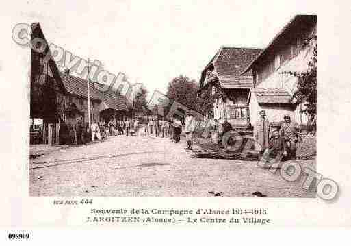 Ville de LARGITZEN, carte postale ancienne