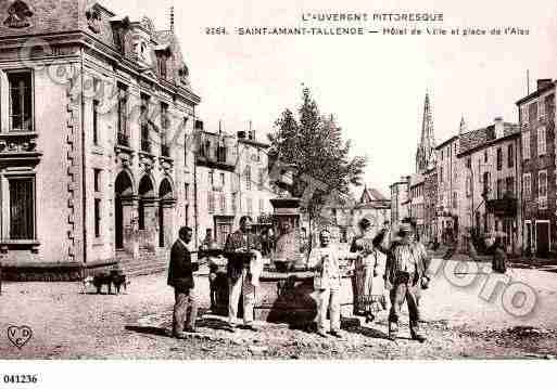 Ville de SAINTAMANTTALLENDE, carte postale ancienne