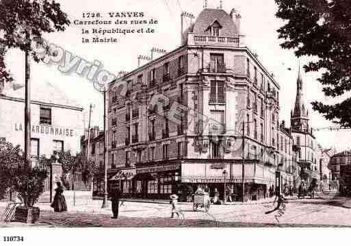 Ville de vanves ph066558 g photo tir e d 39 une carte ancienne for Piscine vanves