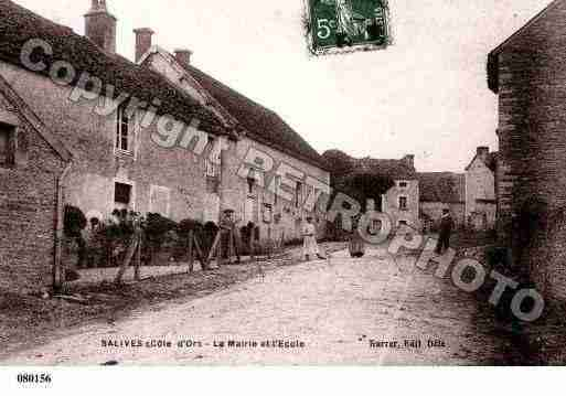 Ville de SALIVES, carte postale ancienne