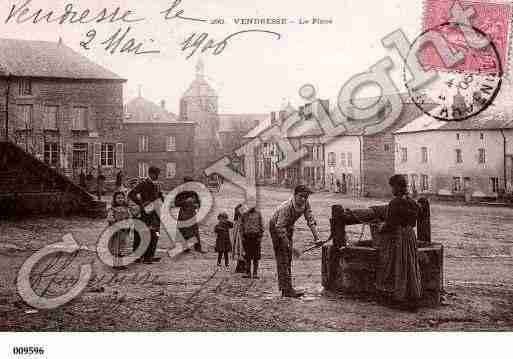 Ville de VENDRESSE, carte postale ancienne