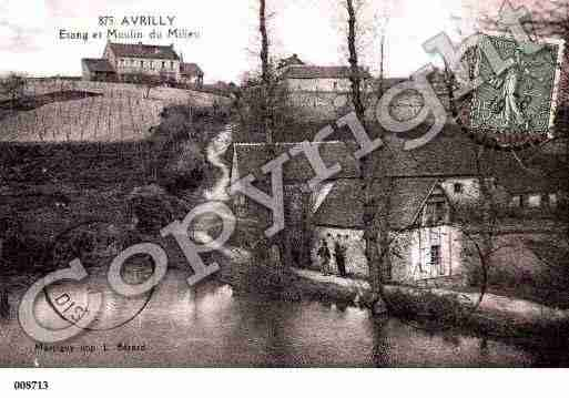 Ville de AVRILLY, carte postale ancienne