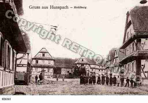 Ville de HUNSPACH, carte postale ancienne