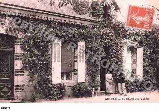 Ville de MOREE, carte postale ancienne