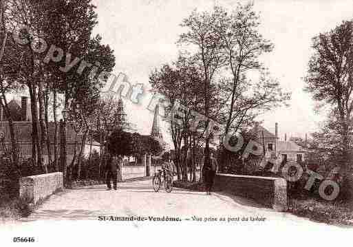 Ville de SAINTAMANDLONGPRE, carte postale ancienne