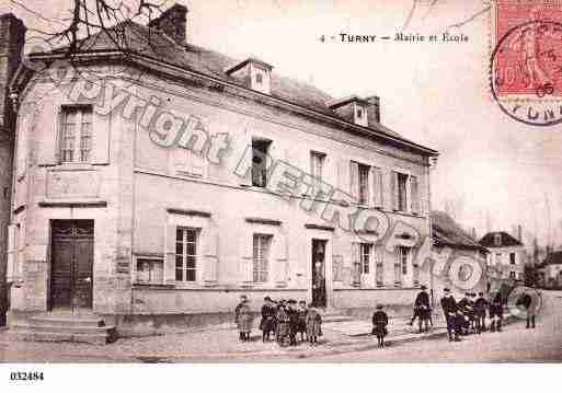Ville de TURNY, carte postale ancienne