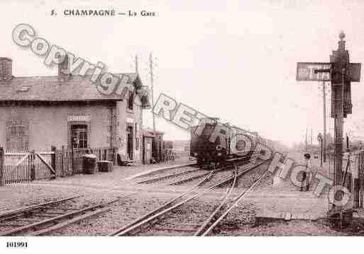 Ville de Champagnesainthilaire, PH062562-B. Photographie réalisée à partir d'une carte postale ...