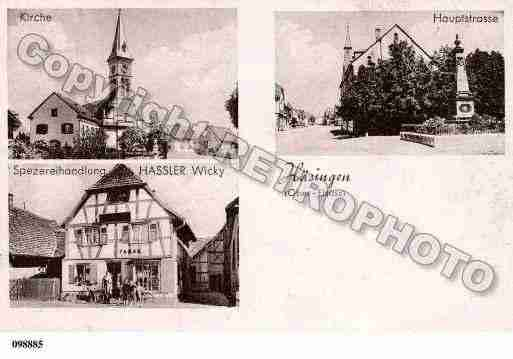 Ville de HESINGUE, carte postale ancienne