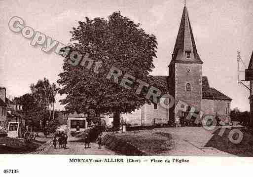 Ville de MORNAYSURALLIER, carte postale ancienne